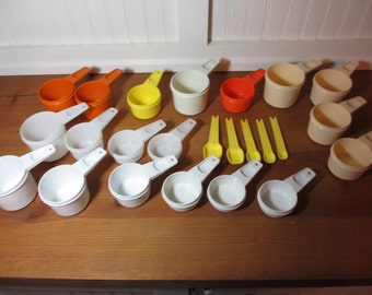 Tupperware Measuring Cups & Spoons, Choose Size and Color