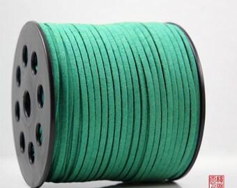 5M Green Micro Fiber Suede Leather Cord