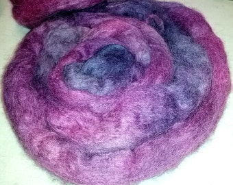 Alpaca Roving natural fibres hand dyed