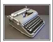 Green 1950s Manual Olympia Typewriter SN# 1416331