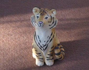 Beautiful Tiger made of clay