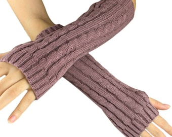 Pink arm warmers fingerless gloves