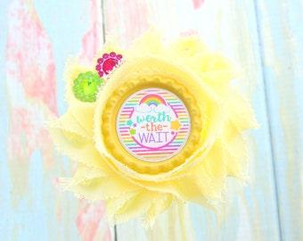 Rainbow bow - Rainbow clip - Miracle baby - Rainbow headband - Worth the wait - Miracle headband - Rainbow baby headband - Miracle hair bow