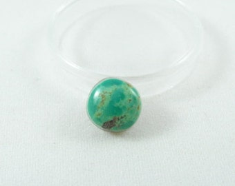 Tyrone stabilized turquoise cabochon