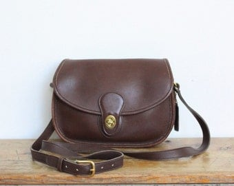 Vintage Coach Bag // Coach Prairie Brown // Crossbody Messenger Bag