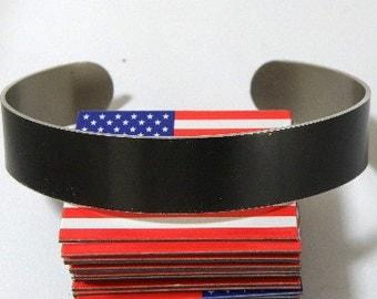 "1/2"" x 6"" (.5 x 6)  BLACK anodized aluminum cuffs blanks, dozen"