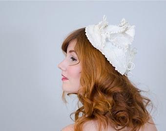 25% OFF SALE / 1950s vintage hat / straw hat / Sara Sue