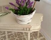 bowl of lavender miniature dollhouses