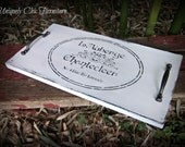 French Typography Writing Tray~Wall Decor