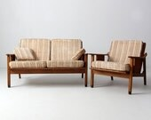 SALE mid century Stanley loveseat and chair set