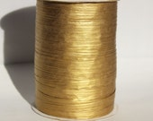Gold Metallic Raffia Ribbon for Wedding Favors, Gift Wrapping and Packaging
