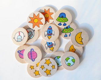 Memory Game, Out of this World, Space, Waldorf toy, Game