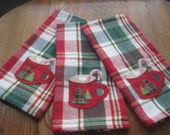 Appliqued Christmas towel