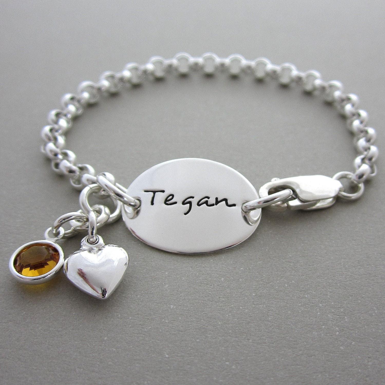Jewelry Kids Bracelets Baby Bracelets By ShinyMetals On Etsy
