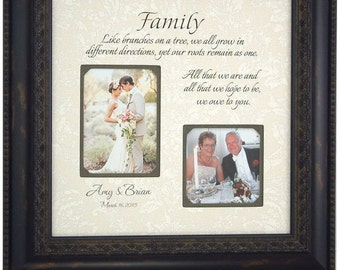 Wedding Gift for Parents, Personalized Wedding Frame, Reception, Bridal Shower, Personalized Gift, FAMILY, Christmas Gift, 16 X 16