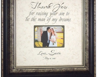 Wedding Gift To Mom From Groom : ... groom mother in law groom parents gift sign frame thank you for