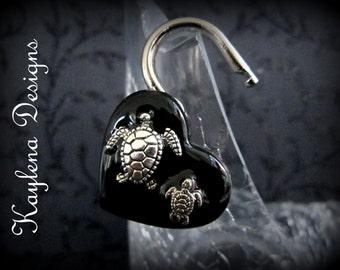 Heart Lock, Sea turtle, BDSM Lock, lock and key, locking Jewelry