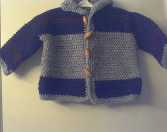 Toddler Boy Sweater with Toggled Button