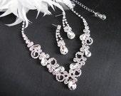 Wedding Necklace Backdrop Necklace Bridal Necklace - Bridal Jewelry - Wedding Necklace - bridal set- Backdrop Bridal Necklace