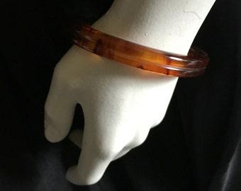 Vintage 1940s Apple Juice Bakelite Bangle Bracelet