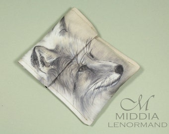 Middia Lenormand Poker Size Cards Pouch Fox