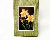 Barn Wood Daffodils Wall Plaque