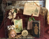 Take A Vintage Rusty Wire Basket Tray And Make It Your Own Display