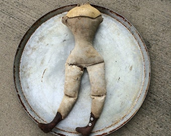 An Antique Doll Body Filled With Human Hair AND A Wasp Waist Score