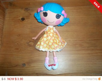 Lalaloopsy Doll Dress handmade orange with yellow flowers