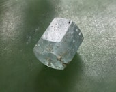 Hand Carved Aquamarine Crystal Bead
