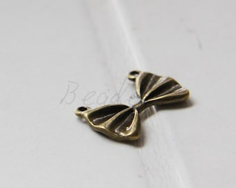 20pcs / Bow / Antique Brass Tone / Charms (Y26455//K205)