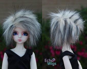 Wolf fur Pre-made 7/8 Wig