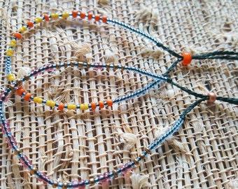 Sunny Days and Starry Nights Morse code bracelets
