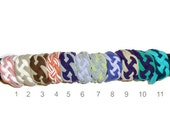 Sailor Knot COLOR BLOCK Bracelet Jersey Cuff Celtic Woven Womens Teen Children SAVE on Multiples and Shipping - Ready to Ship