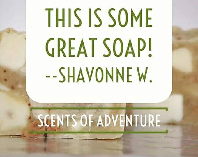 Scents of Adventure aka our incredible magical Scrap Soap -- All Natural Soap, Handmade Soap, Hot Process Soap, Vegetarian Soap, Mystery