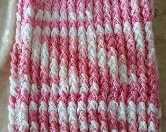 Pink and White Variegated Bag