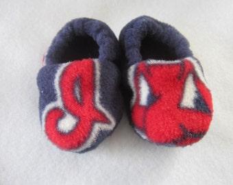 Cleveland Indians fleece baby booties