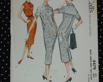 Vintage Pattern c.1958 McCall's No.4479 Chemise Dress, Size 12, Uncut