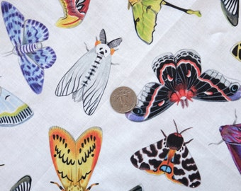 Moth Pattern Fabric by the Yard