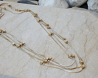Layered necklace. Multi Gold Chain Necklace. Gold Chain Necklace,  Multi Strand Necklace, Fashion Chain Necklace, Chic Long Necklace.For her