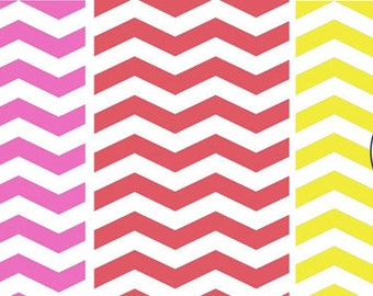 Digital download--red/yellow/pink Printable chevron wafer paper file for cake decorating or cupcake decorating