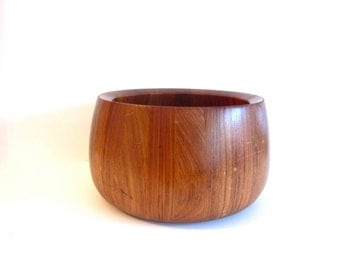 Vintage Dansk teak salad bowl, Dansk International Designs, Thailand JHQ