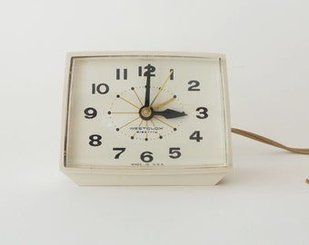 Vintage Retro Westclox Electric Alarm Clock
