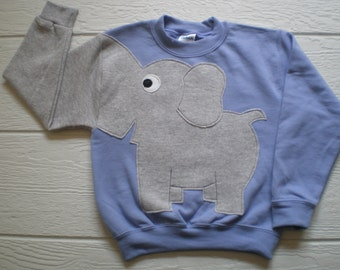Lavendar Childrens Elephant Trunk sleeve sweatshirt,  sweater, elephant jumper, KIDS small, medium ONLY Special Deal