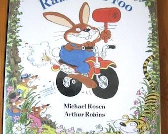 1990 Little Rabbit Foo Foo by Michael Rosen Hardcover with Dust Jacket