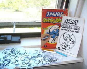 Vintage Smurf Shrinky Dinks