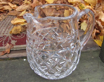 Waterford Pitcher Glandore Pattern Irish Cut Crystal Water or Juice