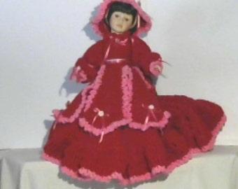 porcelian valentines Doll