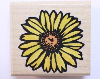 Rubber Stampede Gerbera Sun Flower A2670E Wooden Rubber Stamp