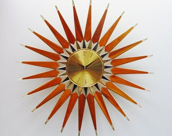 Mid Century Starburst Clock, Spectacular! from Seth Thomas